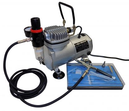Vigiart AS18K-2 Airbrush Compressor Kit contents